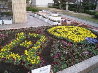 中原区役所の区民デザイン花壇2