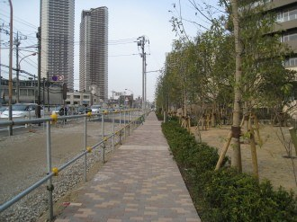 綱島街道の歩道