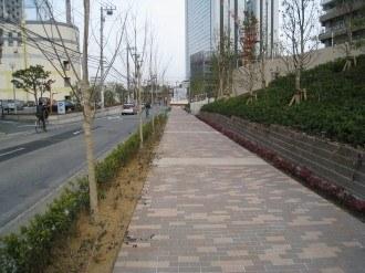 NEC玉川ルネッサンスシティに向かう歩道