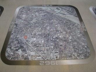 溝の口の航空写真 1962年