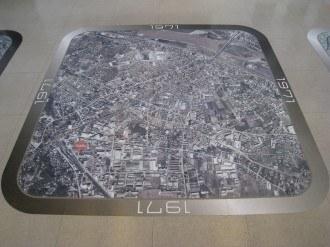 溝の口の航空写真 1971年