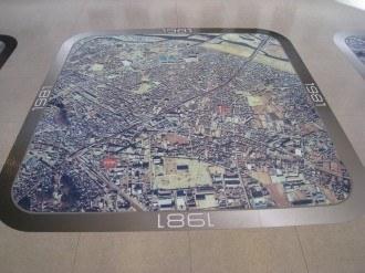 溝の口の航空写真 1981年