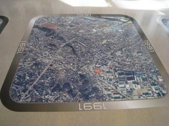 溝の口の航空写真 1991年