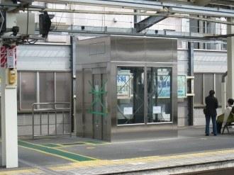 武蔵中原駅のエレベーター・川崎方面ホーム