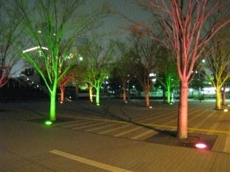 NEC玉川ルネッサンスシティ 広場のライトアップ