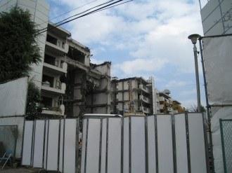 新日本石油社宅取り壊し現場・拡大
