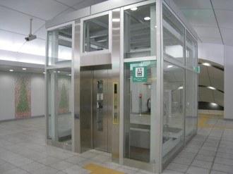 グリーンライン日吉駅のエレベーター