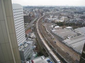 横須賀線武蔵小杉駅新駅工事(24階より)