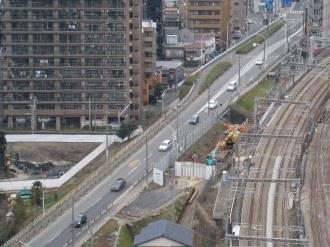 綱島街道の陸橋
