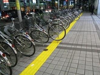 武蔵小杉駅付近の点字ブロック