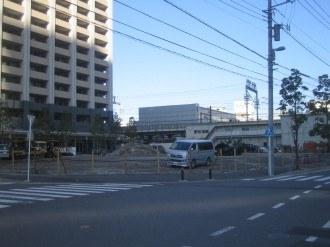 横須賀線武蔵小杉新駅 駅前広場の現状