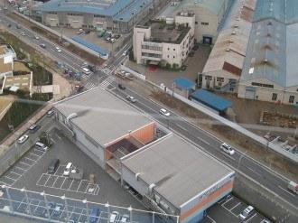綱島街道拡幅の俯瞰