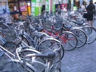 TSUTAYA小杉店前の駐輪