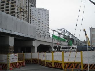 横須賀線武蔵小杉駅工事南端