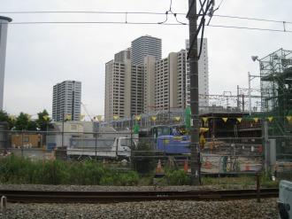 横須賀線武蔵小杉駅工事北端