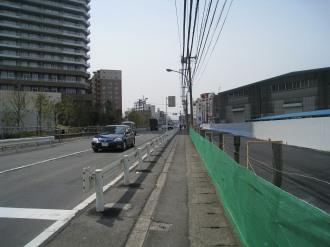 東京機械製作所敷地内 綱島街道拡幅用地