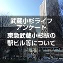 武蔵小杉ライフアンケート 東急武蔵小杉駅の駅ビル等について