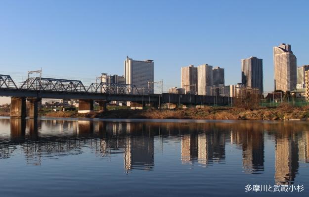 多摩川と武蔵小杉